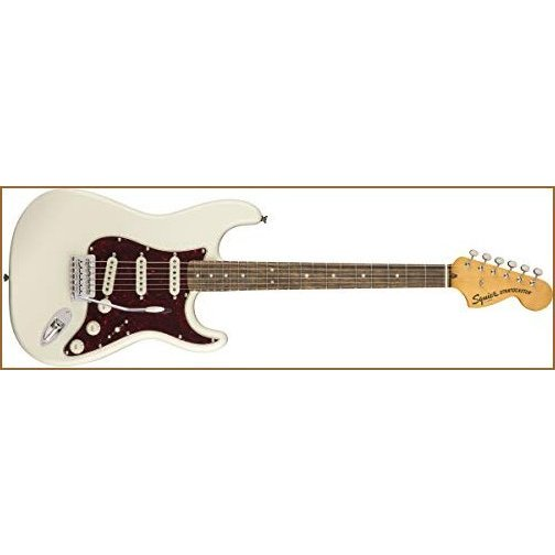 Squier by Fender Classic Vibe 70's Stratocaster Electric Guitar - Laurel Fingerboard - Olympic White【並行輸入品】
