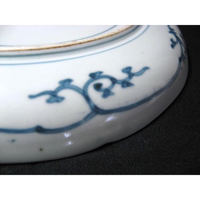 古伊万里藍柿右衛門龍に宝珠文7寸皿 [1-934]|old1222|06
