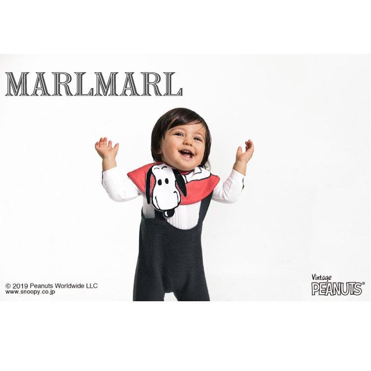 マールマール スタイ MARLMARL スヌーピー Peanuts ピーナッツ よだれかけ ビブ 女の子 男の子 出産祝い ギフト まあるい形 popping out|oldnew|02
