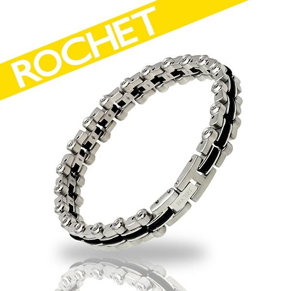 上質で快適 ROCHET/ロシェ サージカルステンレス×シリコン ブレスレット B091180, 【後払い手数料無料】 6896b5c5