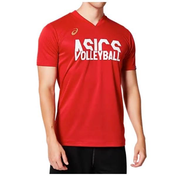 アシックス asics クールショートスリーブトップ ユニセックス バレーボールシャツ 2053A041-600 クラジックレッド 18%OFF NEW 引出物