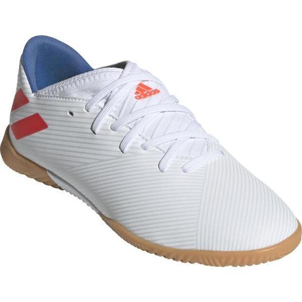 アディダス adidas ネメシス メッシ 19.3 IN J(ジュニア)NEW ジュニアトレーニングシューズ F99932(ランニングホワイト×ソーラーレッド×フットボールブルー)