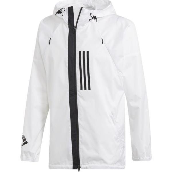 アディダス adidas M WND ジャケット NEW ウィンドブレーカーシャツ FXY09-DZ0048(ホワイト)