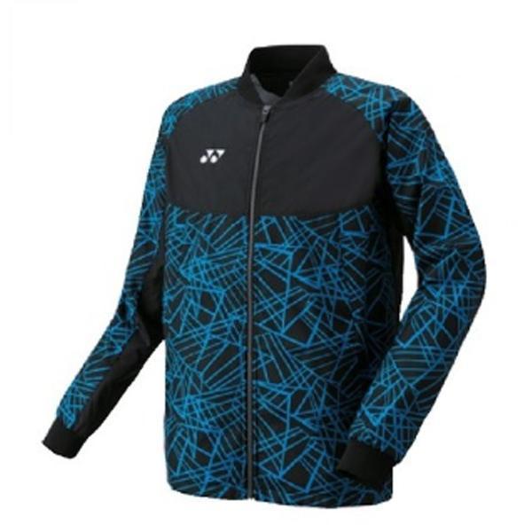 ヨネックス YONEX メンズ 裏地付ウインドウォーマーシャツ(フィットスタイル)NEW メンズ ウォームアップウエア 70060-188 (ブラック/ブルー)