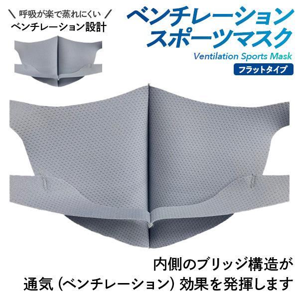 ベンチレーションマスク フラットタイプ ventilation MASK 呼吸が楽 メガネが曇りにくい 洗える 肌にやさしい 日本製 スポーツマスク ランニングマスク|om-sports|03