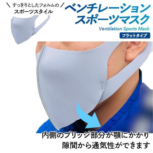 ベンチレーションマスク フラットタイプ ventilation MASK 呼吸が楽 メガネが曇りにくい 洗える 肌にやさしい 日本製 スポーツマスク ランニングマスク|om-sports|05