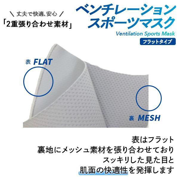 ベンチレーションマスク フラットタイプ ventilation MASK 呼吸が楽 メガネが曇りにくい 洗える 肌にやさしい 日本製 スポーツマスク ランニングマスク|om-sports|06