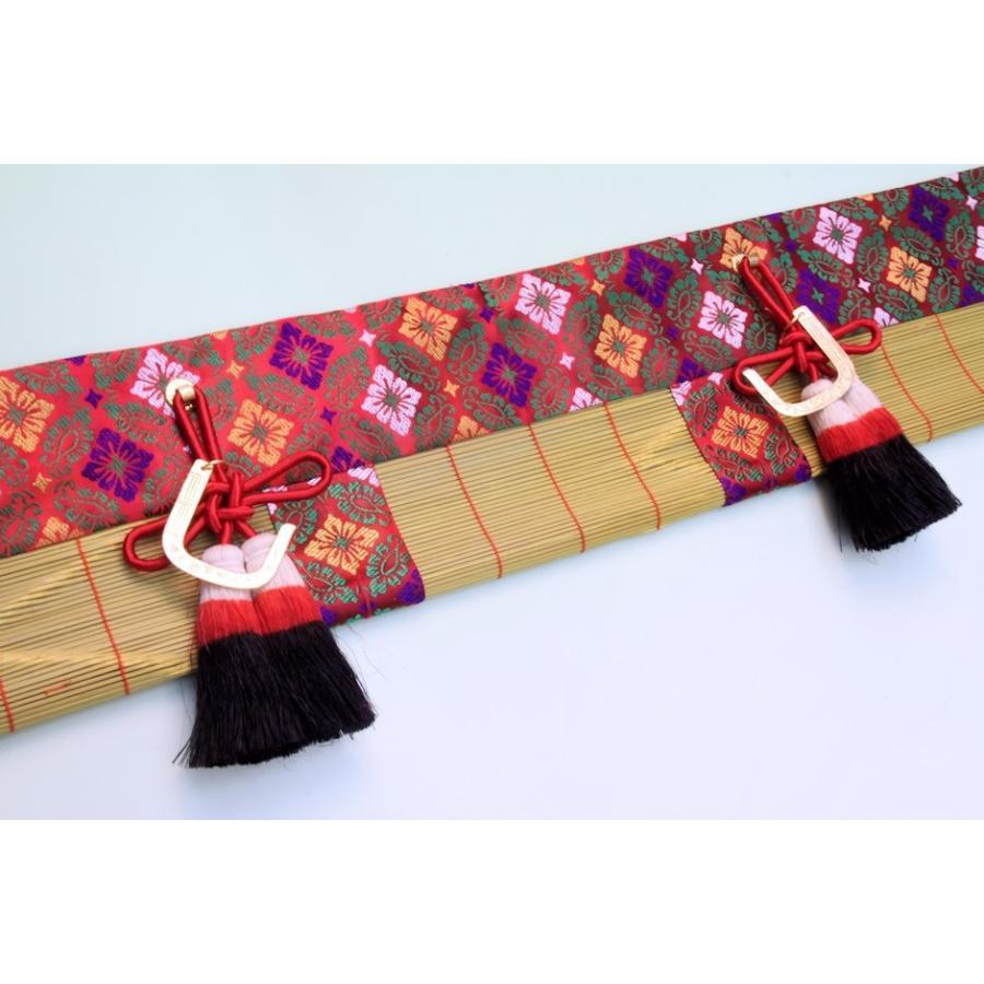神道 祖霊舎内御簾 麻房 金具付き 約幅60cm下がり15cm おまかせ工房|omakase-factory|06