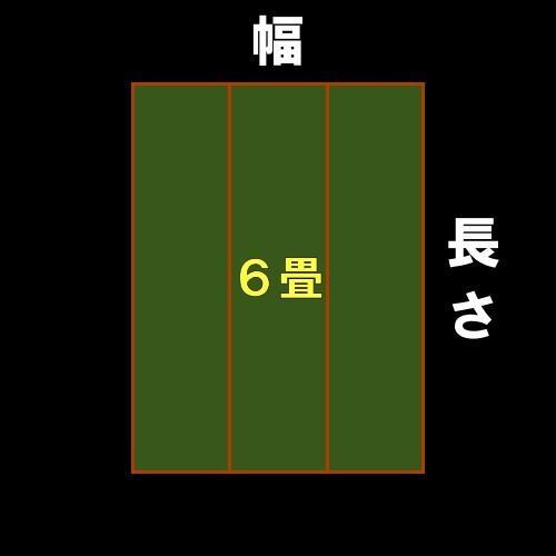 江戸間6帖 五八間6帖 江戸間6畳 五八間6畳 上敷 ござ い草カーペット 引目織り 10段階で9ランクの品質 おまかせ工房|omakase-factory|07