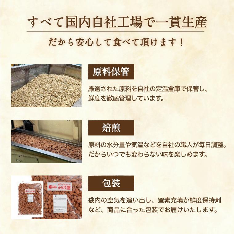 クルミ 素焼き LHP 500g 送料無料 人気の胡桃 くるみ 製造直売 無添加 無塩 無植物油 グルメ みのや|omamesan|08