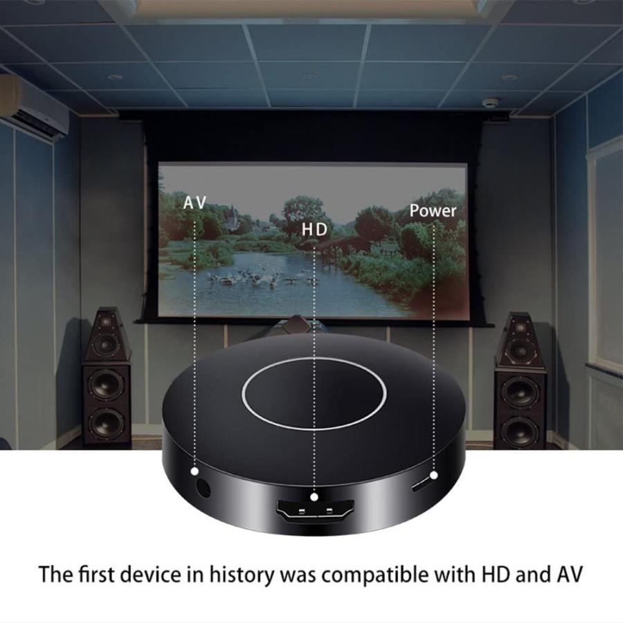 WiFi 丸形ドングルレシーバー 車載・家庭用 HDMI RCA Miracast Airplay 【当店オリジナル日本語ガイド付き】 omix2 04