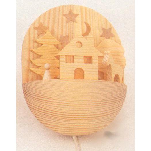 木のおもちゃ ドイツ 木製 知育玩具 ナイトランプ・白木・春第1弾10