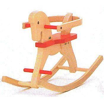 木のおもちゃ ドイツ 木製 知育玩具 CUBIO 木馬・春第1弾10