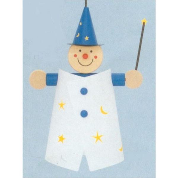 木のおもちゃ ドイツ 木製 知育玩具 ルームライト 魔法使い