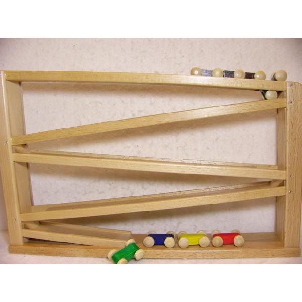 木のおもちゃ ドイツ 木製 知育玩具 出産祝い ギフト トレインカースロープ クネクネバーン(大)