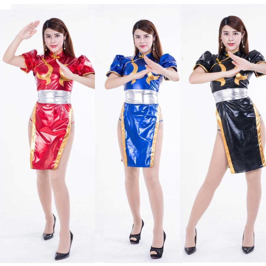 低価格化 光沢メタリック 評価 ストリートファイター 李春麗風衣装 チュンリー リー