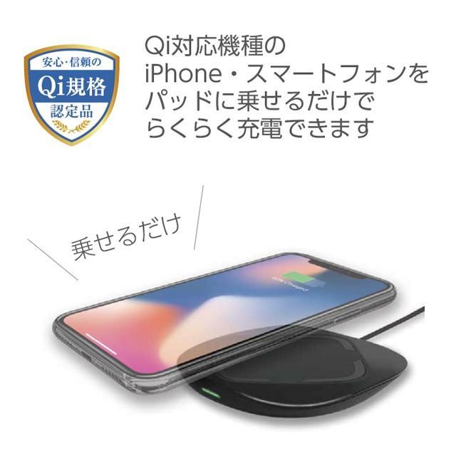 ワイヤレス充電器 iPhoneX iPhone8 iPhone8Plus 置くだけ充電 Qi充電 チー充電 充電パッド AWJ-PD1 BK(ブラック) omsp-sp 03