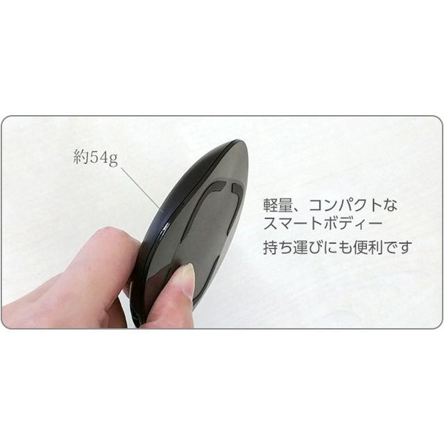 ワイヤレス充電器 iPhoneX iPhone8 iPhone8Plus 置くだけ充電 Qi充電 チー充電 充電パッド AWJ-PD1 BK(ブラック) omsp-sp 06
