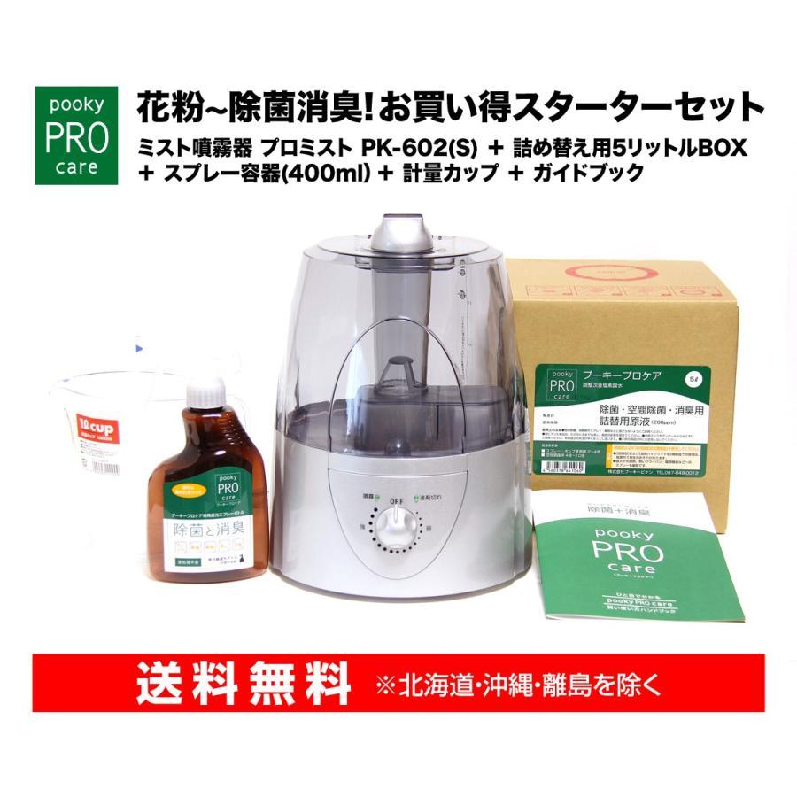 次亜塩素酸水 噴霧器 プロミスト PK-602(S)+詰め替え用5リットルBOX スターターセット|omsp-sp