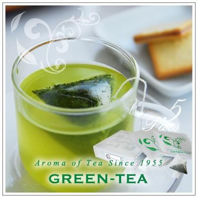 【高級静岡深蒸し茶ティーパック】Aroma of Teaシリーズ ティーパック深蒸し緑茶1煎パック×5袋入り 3g×5袋 600円|omuraen