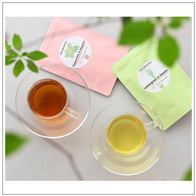 【ハーブブレンド国産フレーバーティ】レモングラス&煎茶 ティーパック8包入 700円 omuraen 09