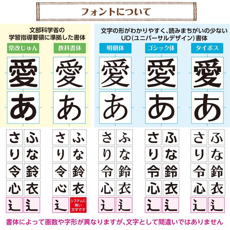 大きめ お名前シール【透明】書体が選べる【5書体】 onamaeoukoku 11