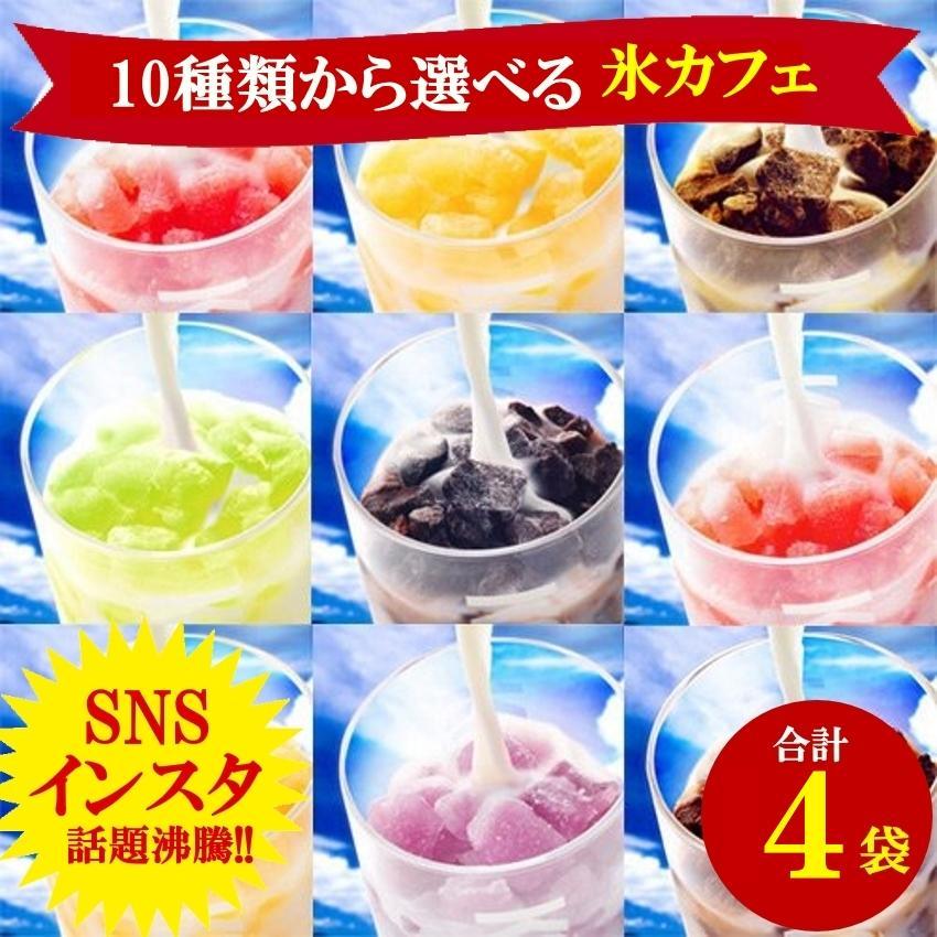 アイスライン 氷カフェ10種類から選べる4袋 60g×4 冷凍食品 バラエティー 完売 スイーツ お菓子 贈り物ギフト 百貨店 チョコ 業務用アイスクリーム