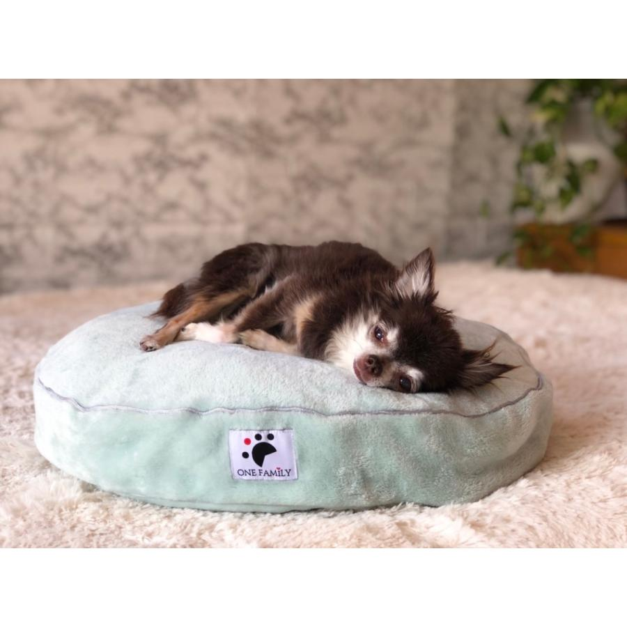 【ペットではなくあなたは家族】 犬や猫の 円形羽毛クッション+専用カバー|one-family|03
