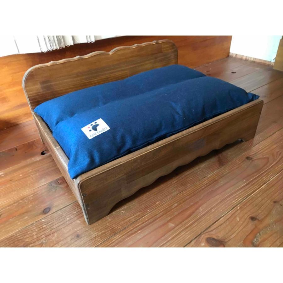 【ペットではなくあなたは家族】 羽毛クッション用木製ベッド|one-family|02