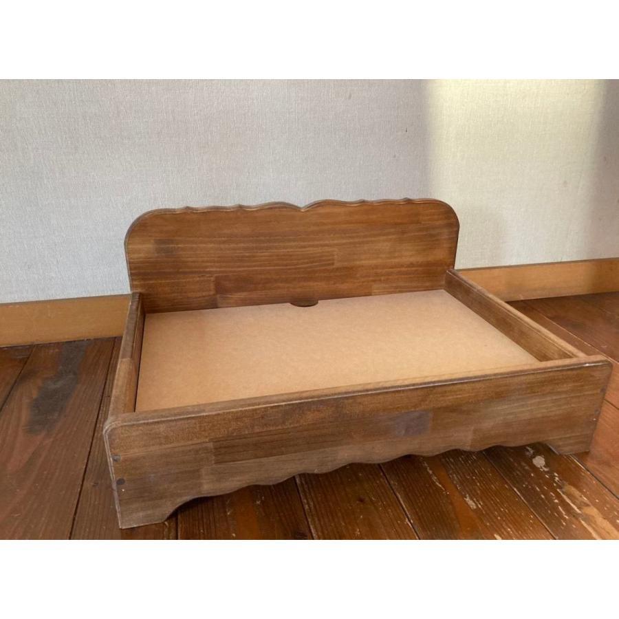 【ペットではなくあなたは家族】 羽毛クッション用木製ベッド|one-family|05