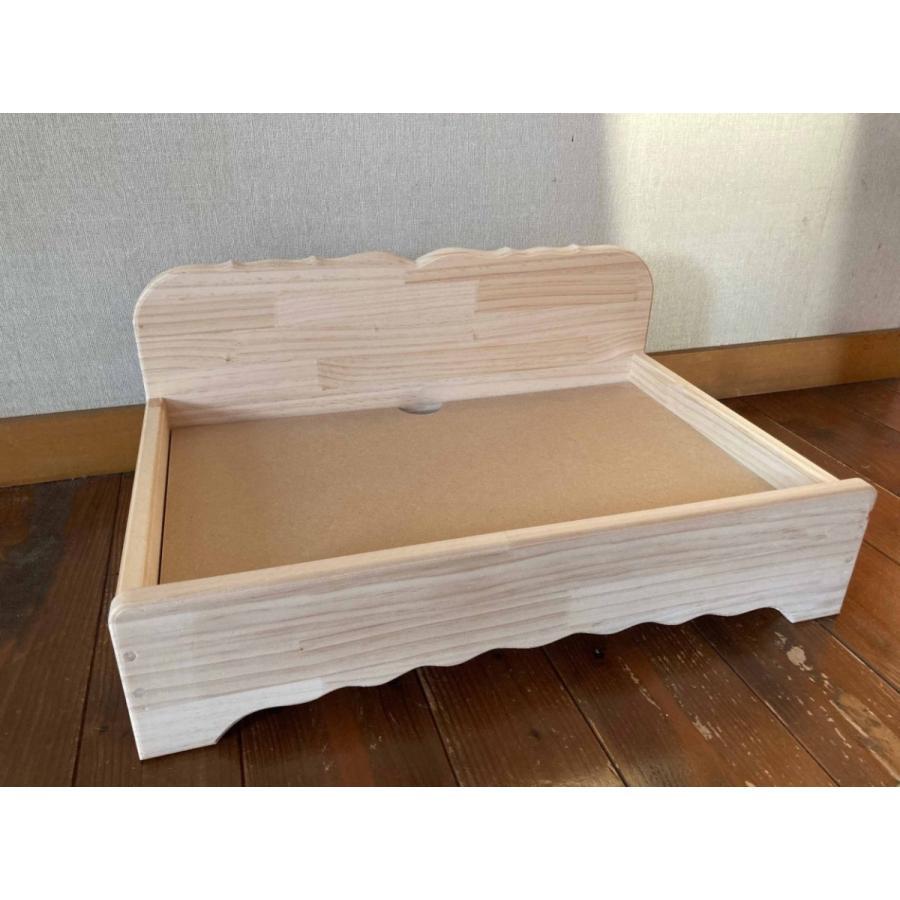 【ペットではなくあなたは家族】 羽毛クッション用木製ベッド|one-family|06