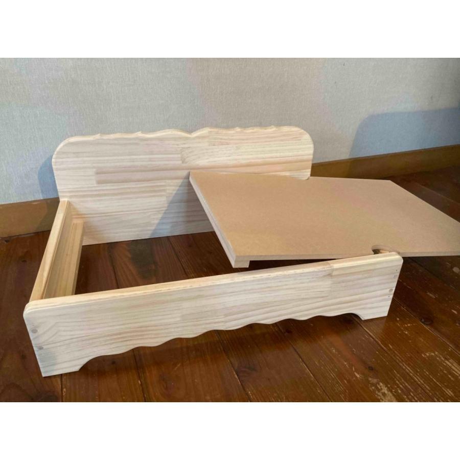 【ペットではなくあなたは家族】 羽毛クッション用木製ベッド|one-family|07