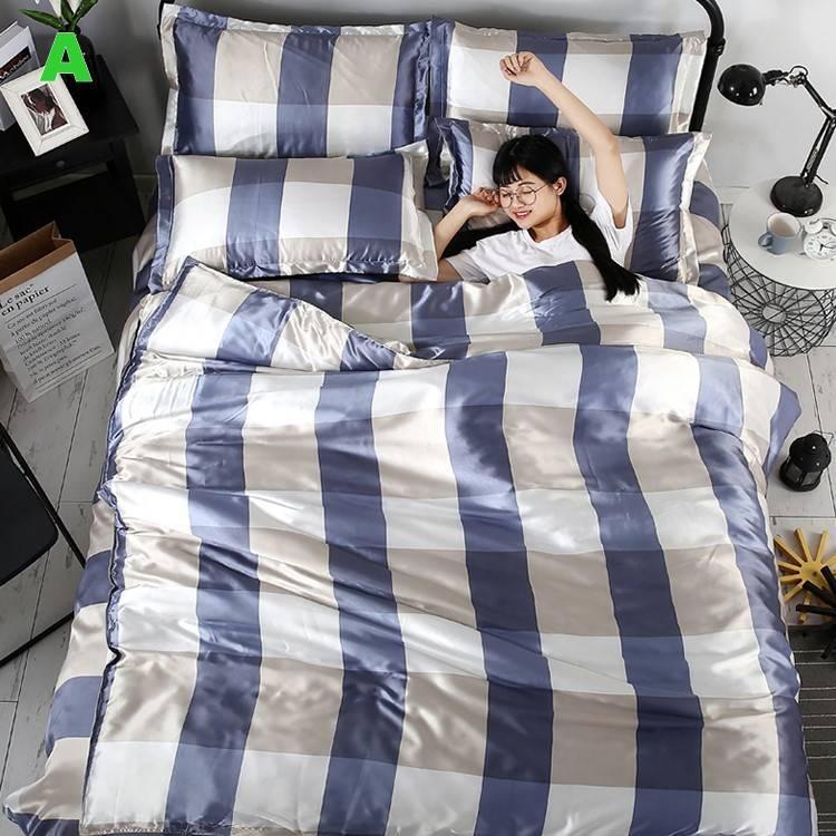 布団 掛け布団 夏用 ふとん 寝具 シーツカバー 枕カバー 夏掛け 四季通用 洗える 抗菌 防臭 軽量 柔らかい 涼感 北欧風 サマー 1.5M 1.8M 2M 4点セット|onep-no-machi