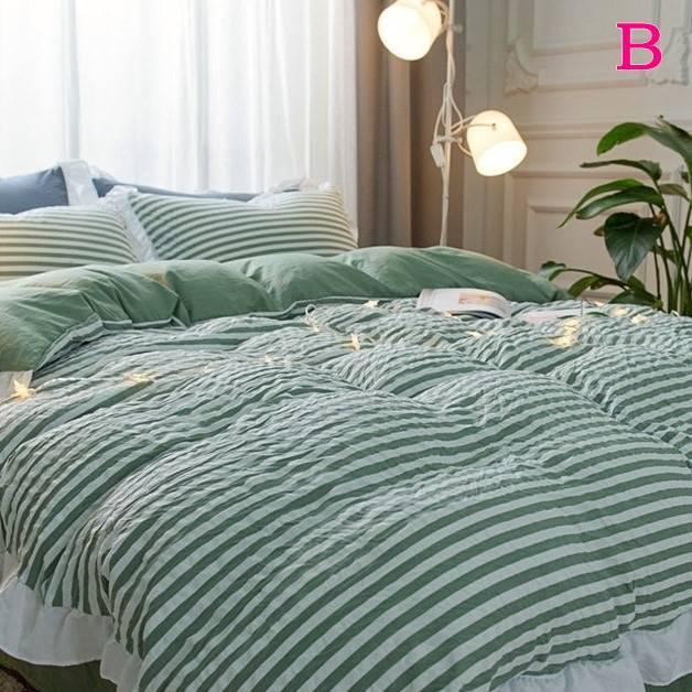 布団カバー 3点セット シングル 綿100% 寝具セット シーツカバー 枕カバー 夏掛け 洗える 軽量 柔らかい 涼感 北欧風 サマー 1.5M 1.8M 2M 4点セット|onep-no-machi|02