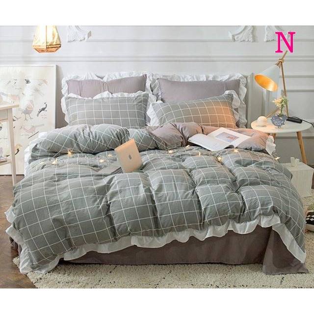 布団カバー 3点セット シングル 綿100% 寝具セット シーツカバー 枕カバー 夏掛け 洗える 軽量 柔らかい 涼感 北欧風 サマー 1.5M 1.8M 2M 4点セット|onep-no-machi|14