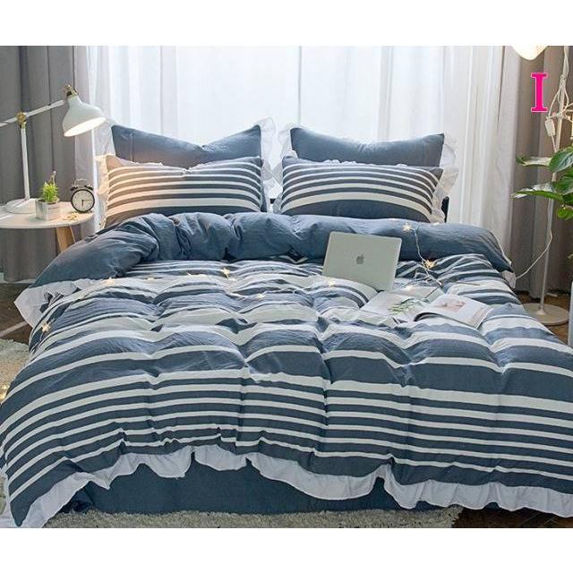 布団カバー 3点セット シングル 綿100% 寝具セット シーツカバー 枕カバー 夏掛け 洗える 軽量 柔らかい 涼感 北欧風 サマー 1.5M 1.8M 2M 4点セット|onep-no-machi|09