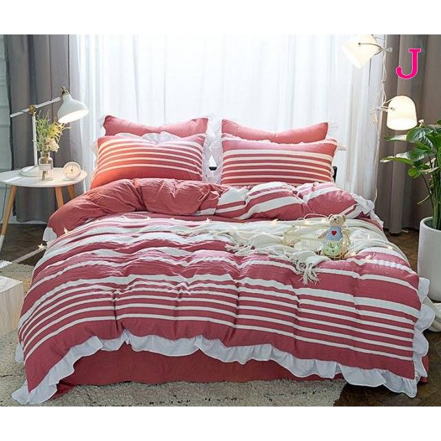 布団カバー 3点セット シングル 綿100% 寝具セット シーツカバー 枕カバー 夏掛け 洗える 軽量 柔らかい 涼感 北欧風 サマー 1.5M 1.8M 2M 4点セット|onep-no-machi|10
