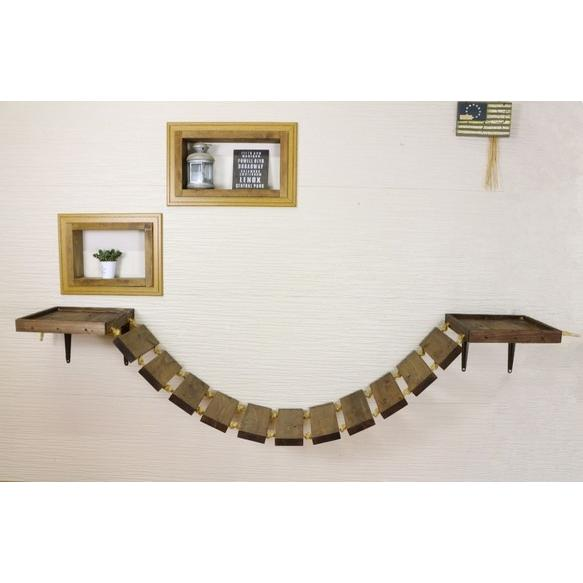 木製 ネコ用 吊り橋 キャットウォーク|oneplus