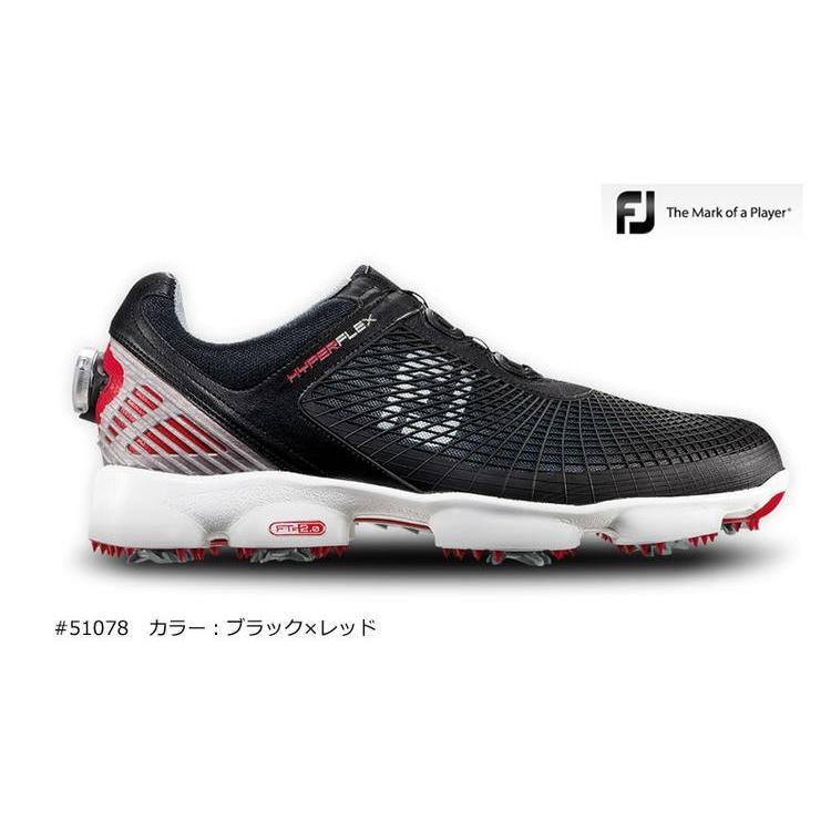 フットジョイ FootJoy メンズHYPERFLEX Boa #51078 ゴルフシューズカラー:ブラック×レッド10077114