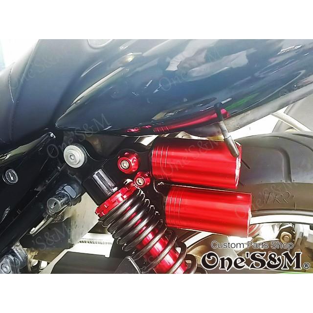 ツインタンク リアサスペンション リアショック 2本セット 車高調整アジャスター付き 320mm 330mm [P6-3]|ones-parts-shop|08