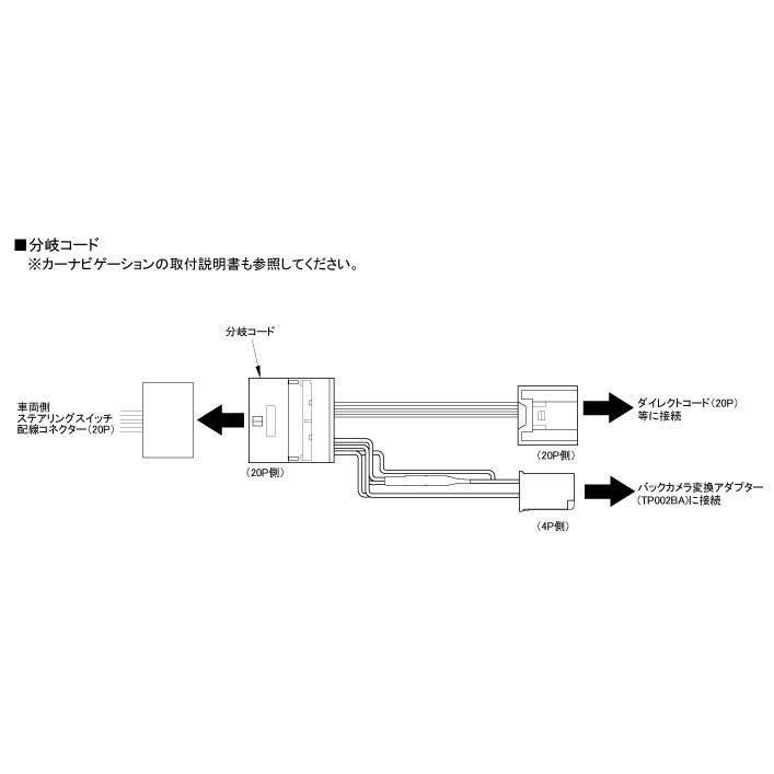 【ワントップ/OneTop】TPD049DC ダイハツ車用ステアリングリモコン分岐コード|onetop-onlineshop|02