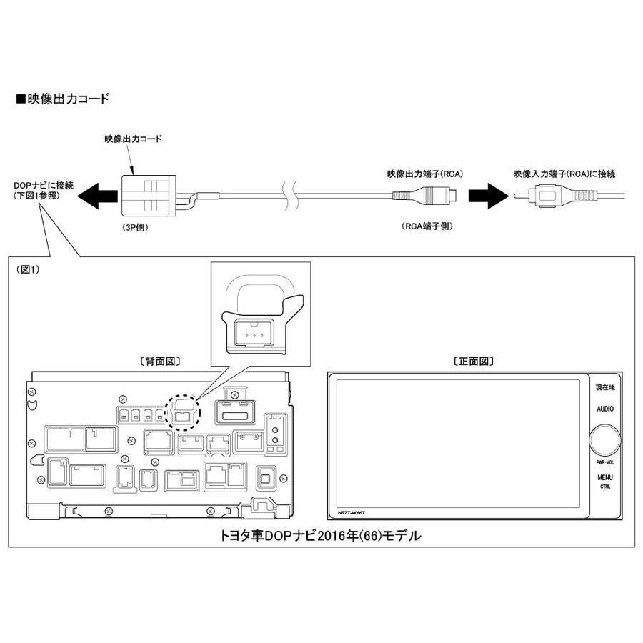【ワントップ/OneTop】トヨタ車DOPナビ2016年(66)モデル用映像出力コード TPY050VC onetop-onlineshop 02
