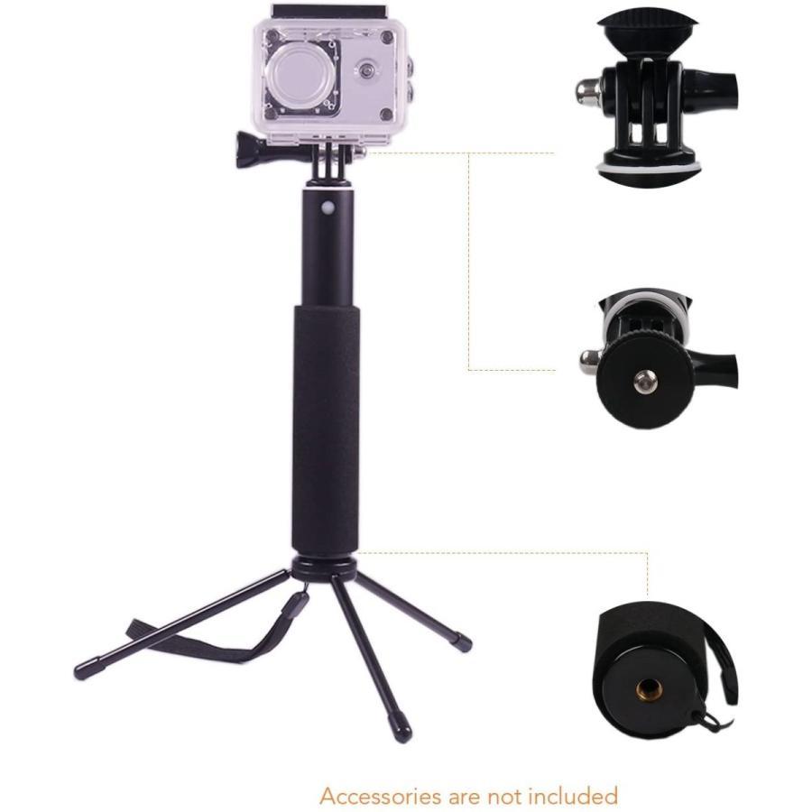 APEMAN 自撮り棒 180度回転 防水可能 ハンドグリップ アクションカメラ用 A66/A66S/A79/A80/A100 APEMAN|online-shop-ma2moto|02