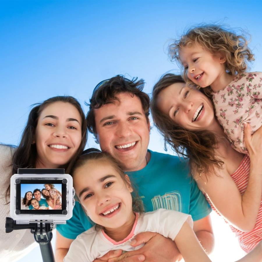 APEMAN 自撮り棒 180度回転 防水可能 ハンドグリップ アクションカメラ用 A66/A66S/A79/A80/A100 APEMAN|online-shop-ma2moto|04