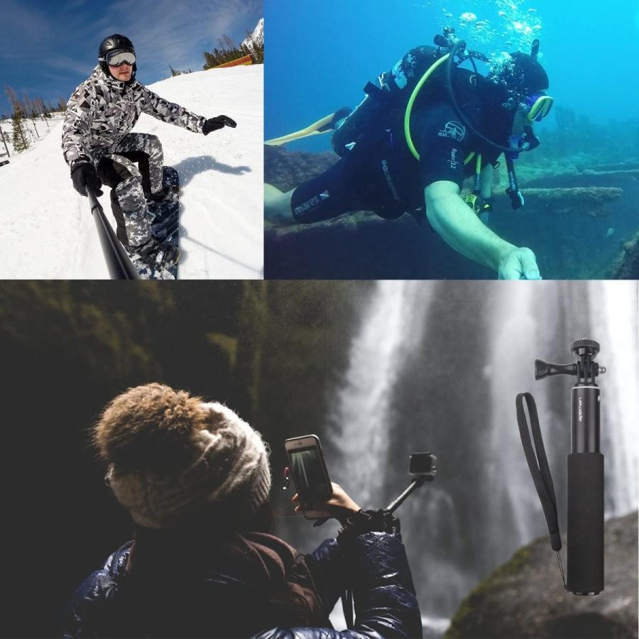 APEMAN 自撮り棒 180度回転 防水可能 ハンドグリップ アクションカメラ用 A66/A66S/A79/A80/A100 APEMAN|online-shop-ma2moto|07
