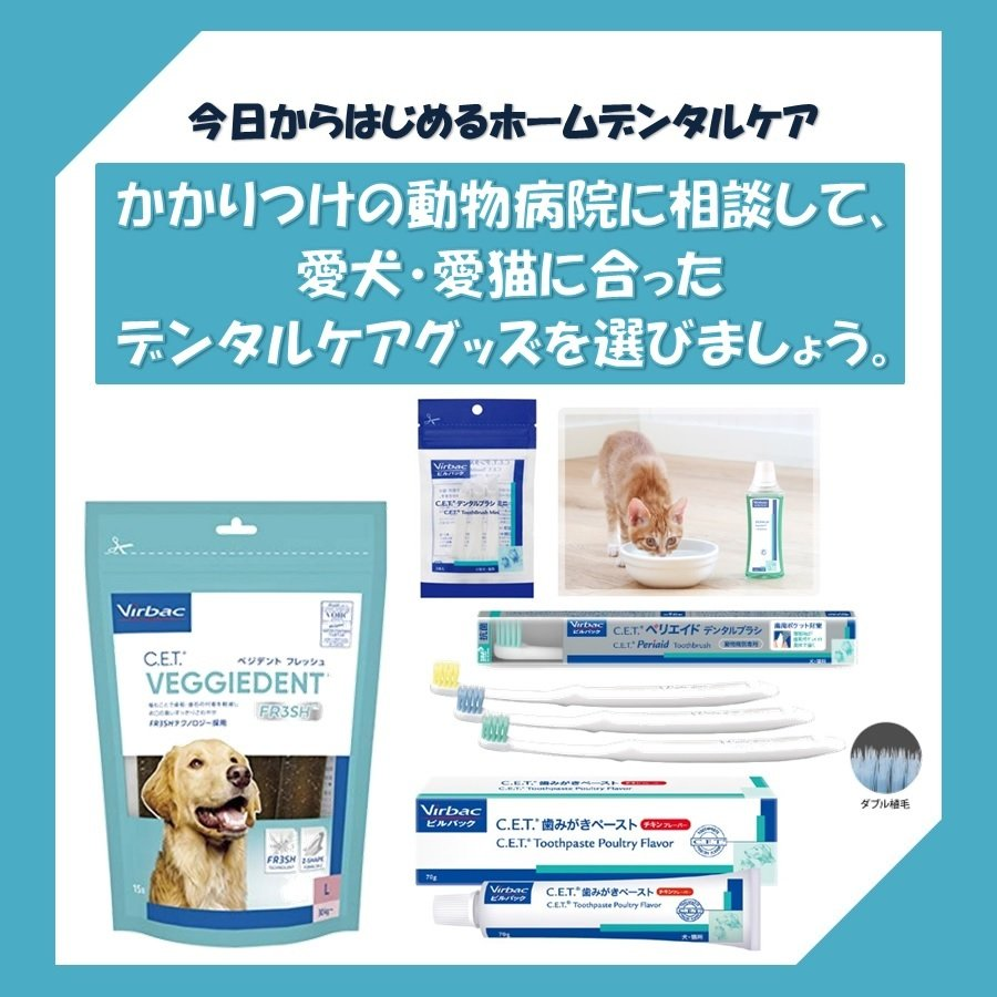 ビルバック 犬用 CETベジデントフレッシュ S 15本入り(2個セット)【送料無料】【沖縄・北海道・一部特定地域は別途追加料金がかかります】|onlineshop|06