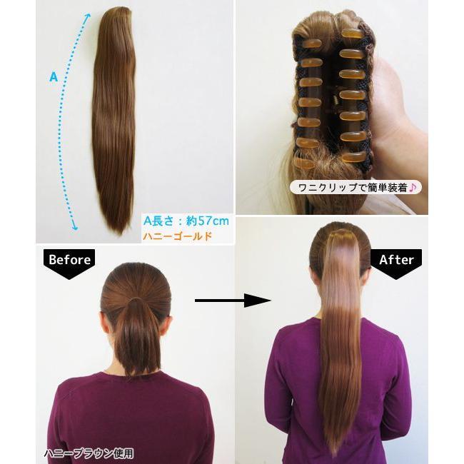 ウィッグ/ポイントウィッグ/ロング/ストレート/ポニーテールウィッグ 全10色(wig)|only-and-one|02