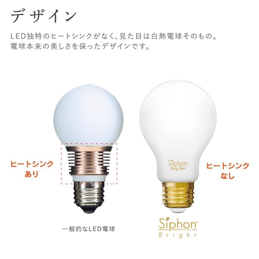 【フィラメントLED電球「Siphon Bright」A60 (一般電球型) LDF201】 E26 70W相当 フロスト レトロ アンティーク インダストリアル ブルックリン ランプ|only1-led|06