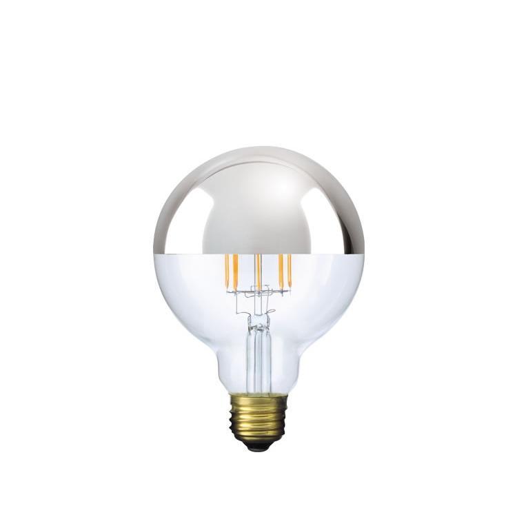【フィラメントLED電球「Siphon」ボール95 LDF34】E26 Silver mirror 暖系電球色 Tミラー レトロ アンティーク インダストリアル ブルックリン  間接照明 ランプ only1-led 02