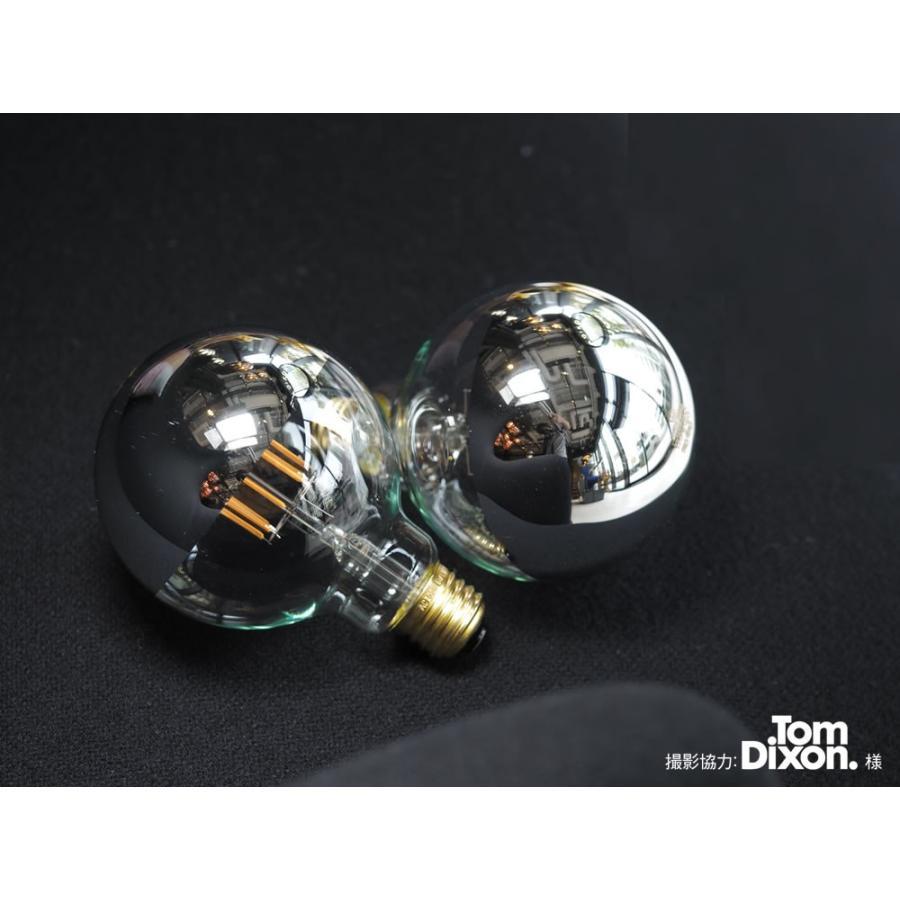 【フィラメントLED電球「Siphon」ボール95 LDF34】E26 Silver mirror 暖系電球色 Tミラー レトロ アンティーク インダストリアル ブルックリン  間接照明 ランプ only1-led 03